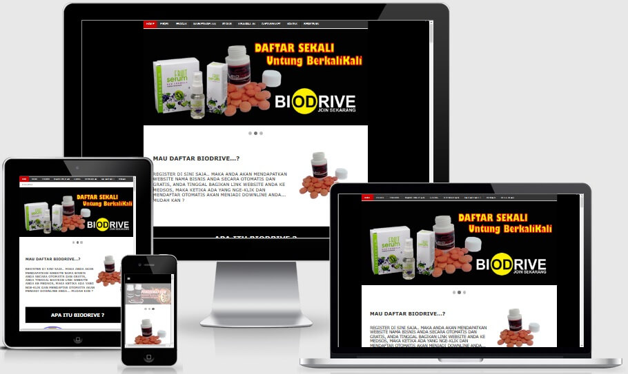 Biodrive Responsive Landing Page Blogspot