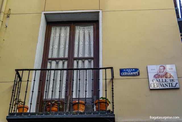 Rua Cervantes, Barrio de las Letras, Madri