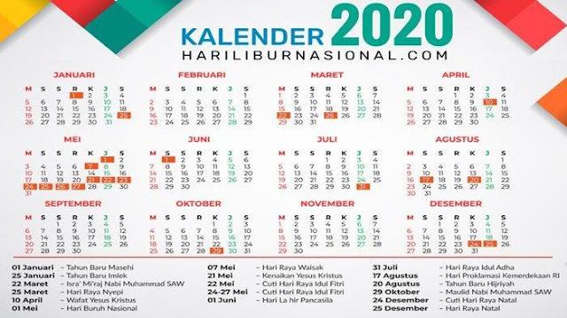 Resmi Direvisi, Ini Empat Tambahan Hari Libur Tahun 2020