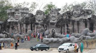 Patung Relief 4 wajah Tubaba