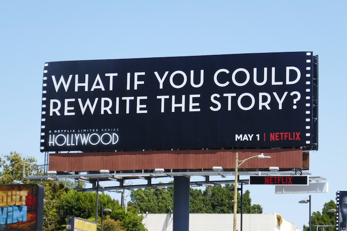 rewrite the story Hollywood billboard Sunset Strip