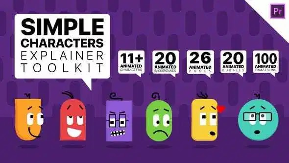 Videohive Simple Characters Explainer Toolkit | Essential Graphics Mogrts 26277134