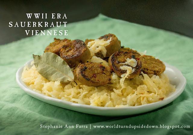 WWII WW2 Recipe Sauerkraut Viennese