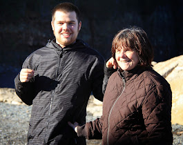 Conor and Mom Enjoying Hall's Harbour NS