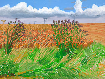 David Hochney - Wheatfields off Woldgate 2006