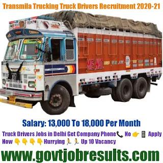 Transmilo Trucking Solution Truck Driver Recruitment 2020-21
