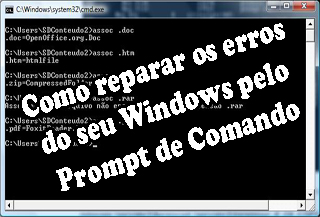 corrigir erros do windows através do prompt de comando cmd