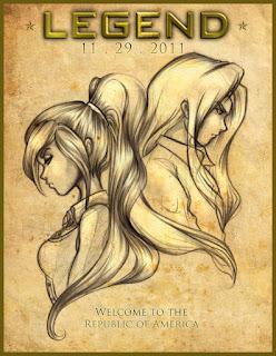 Dibujo a mano de June y Day, protagonistas del libro Legend de Marie Lu