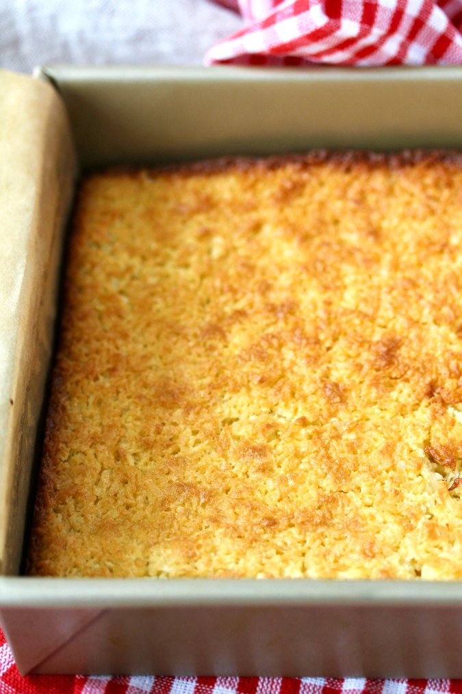 Brazilian Baked Coconut squares