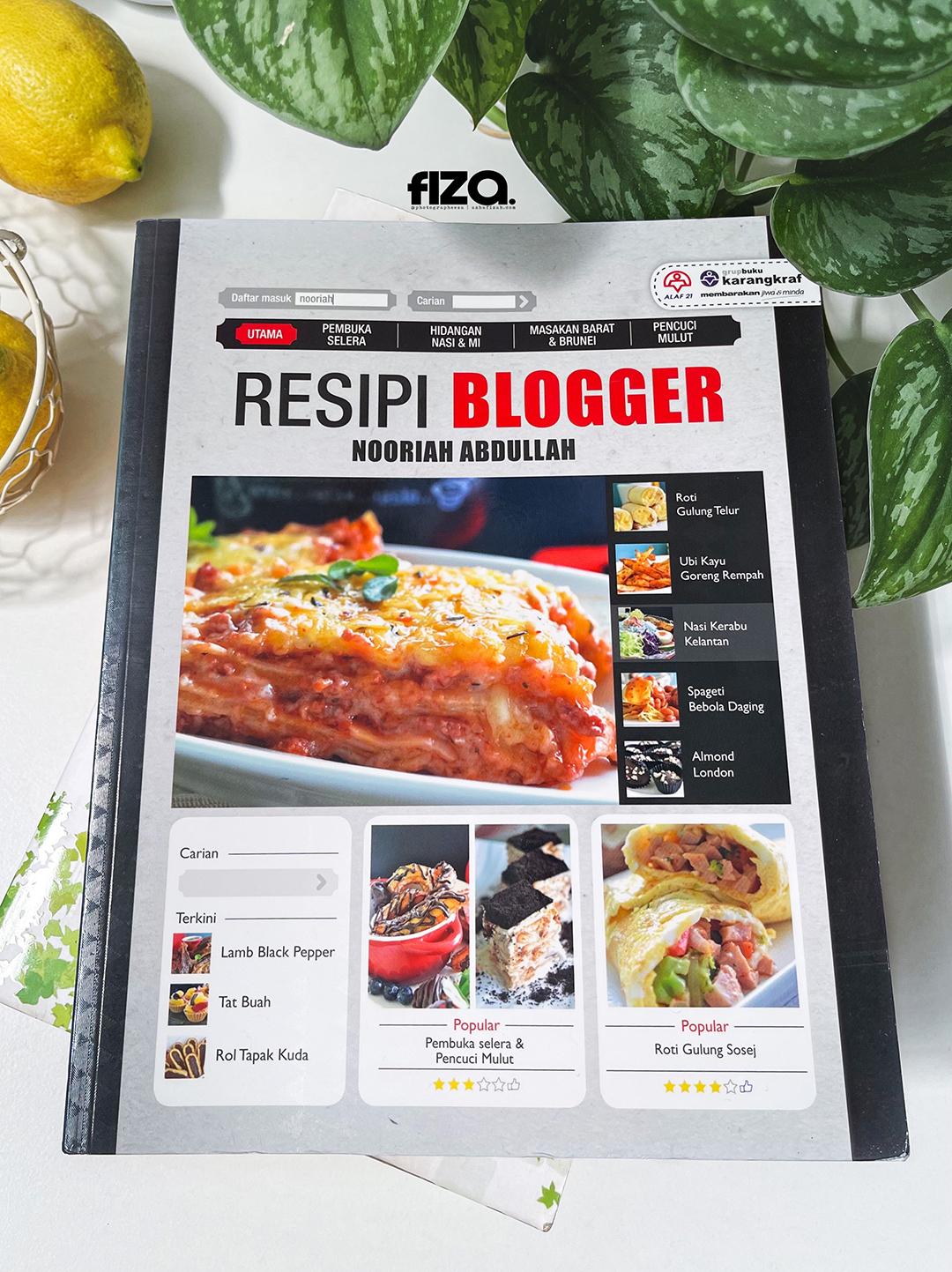 Buku Resipi Blogger Nooriah Abdullah