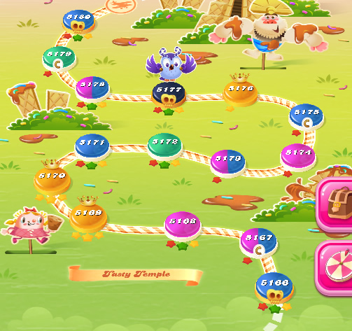 Candy Crush Saga level 5166-5180