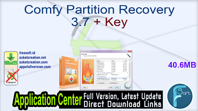 Comfy Partition Recovery 3.7 + Key