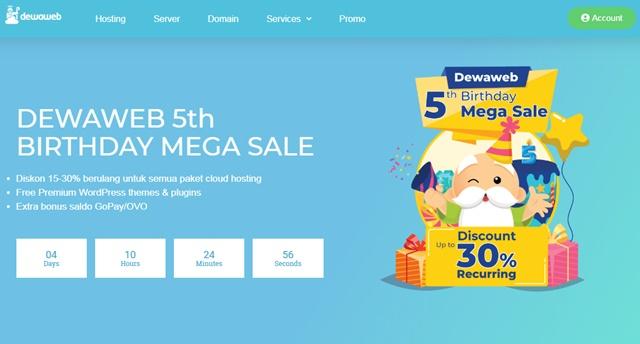 Promo Hosting Murah Ultah Dewaweb September 2019 - dewaweb.com