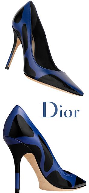 Blue Spotted Dior Pumps #brilliantluxury