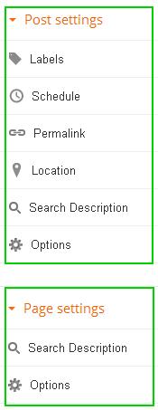 구글블로그 사용법: 포스트와 페이지의 페이지설정 기능 차이점