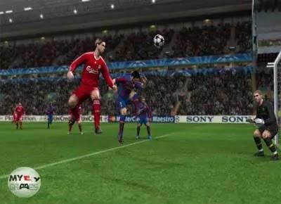 من داخل تحميل لعبة PES 2010 للكمبيوتر من ميديا فاير