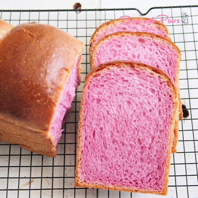 Purple Sweet Potato Soft Sourdough Bread