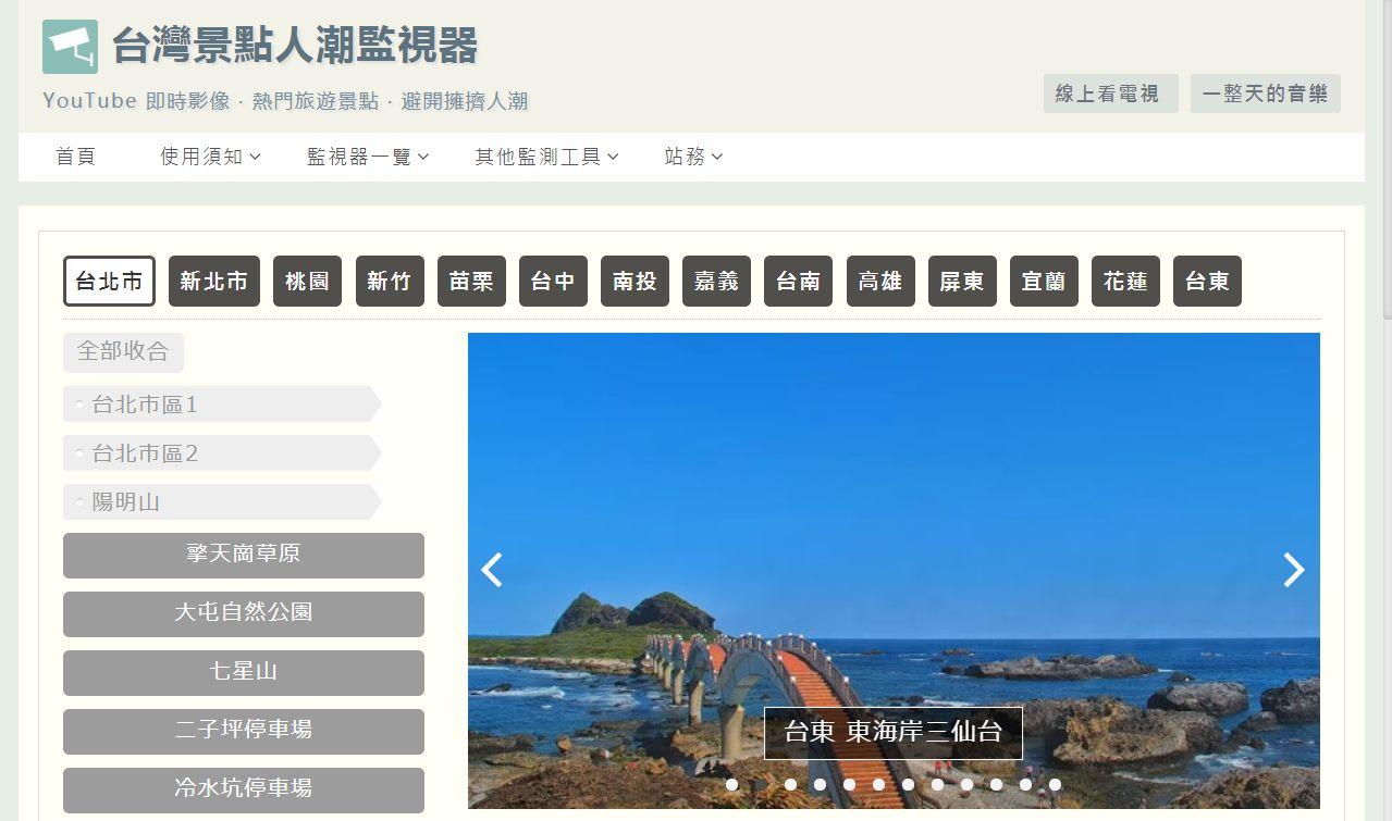 monitor.jpg-台灣景點人潮監視器 + 一整天的音樂