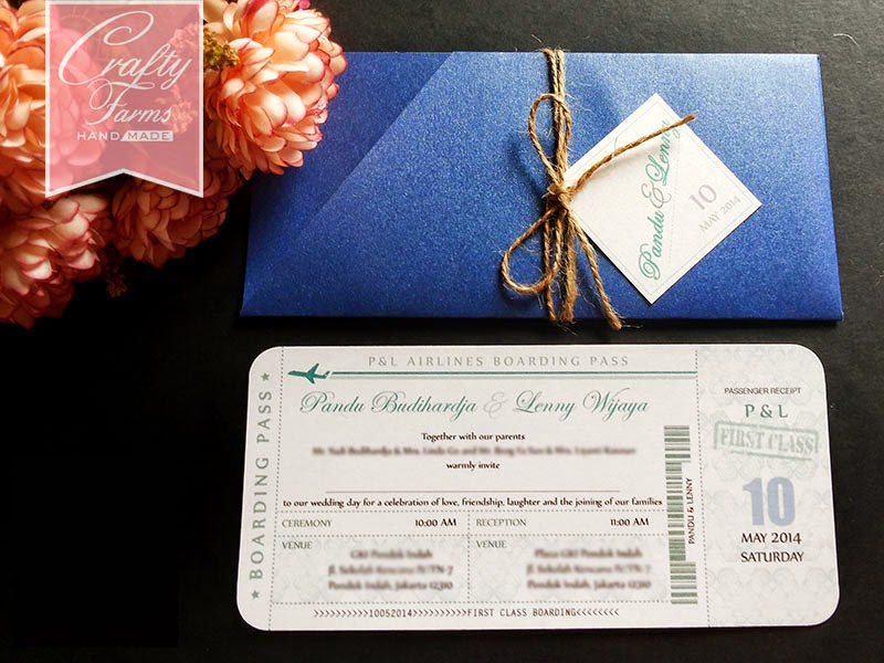 a wedding card for destination theme wedding at Jakarta Indonesia