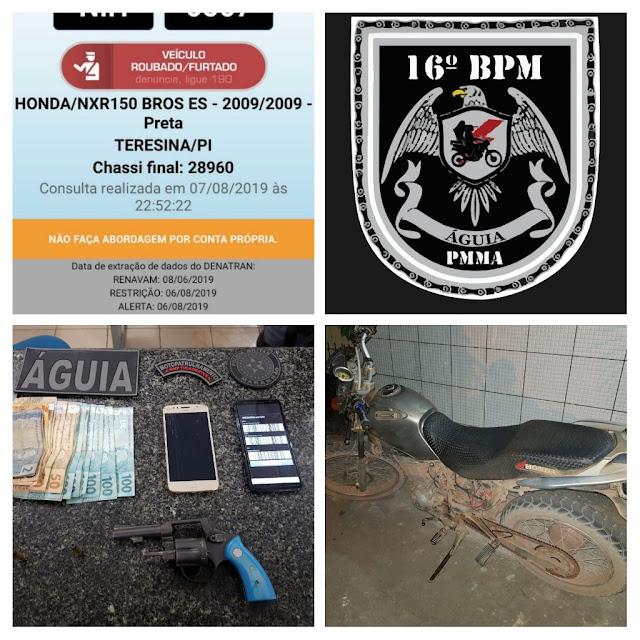 Dupla é presa por porte ilegal de arma de fogo na MA 230 em Chapadinha