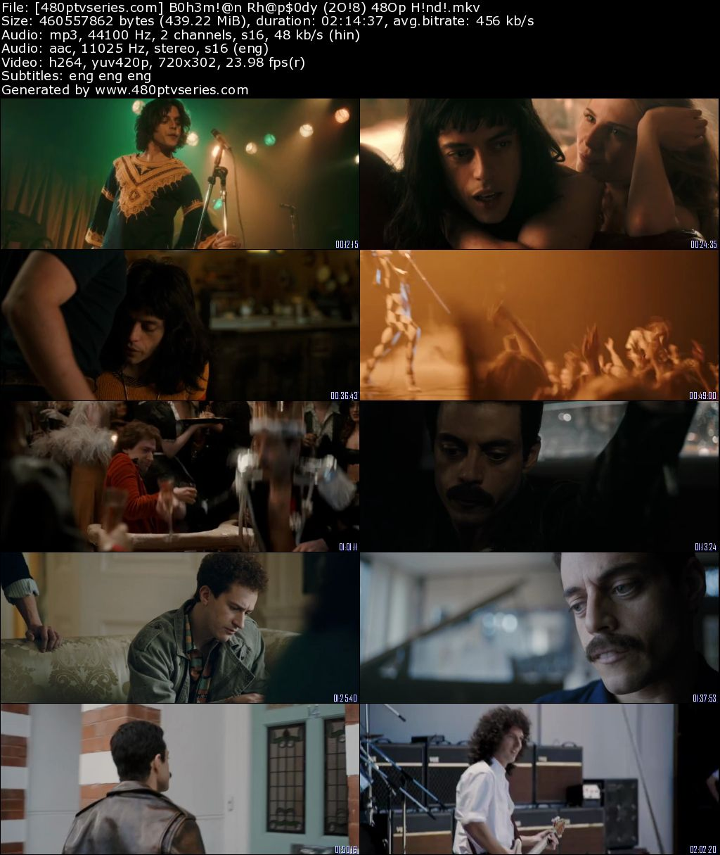 Bohemian Rhapsody (2018) 400MB Full Hindi Dual Audio Movie Download 480p Bluray Free Watch Online Full Movie Download Worldfree4u 9xmovies