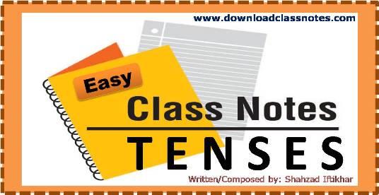 Easy Notes on English Tenses (In Urdu)
