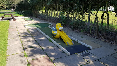 Crazy Golf course at Southport's Botanic Gardens