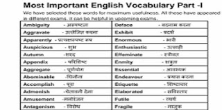 Vocabulary in Hindi PDF