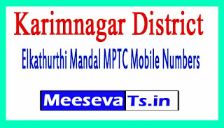 Elkathurthi Mandal MPTC Mobile Numbers List Karimnagar District in Telangana State