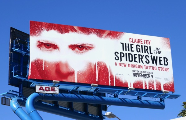 Girl in the Spiders Web movie billboard