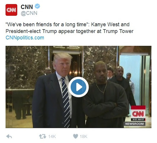 PRESIDENT - ELECT TRUMP AND KANYE WEST