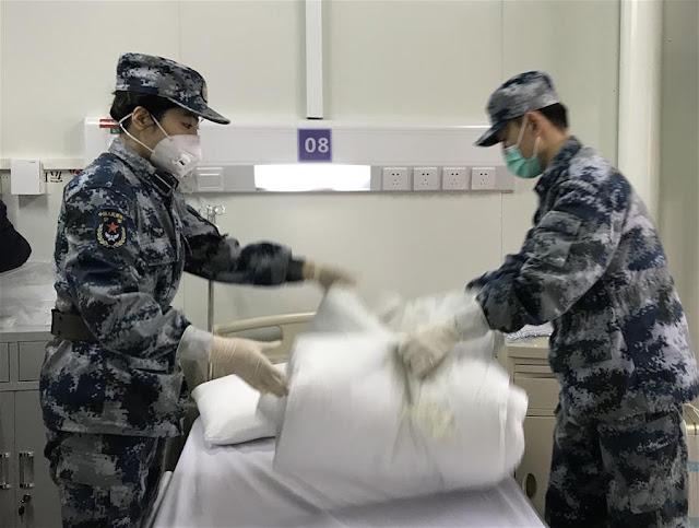 Hospital Huoshenshan - Verificações finais de agentes