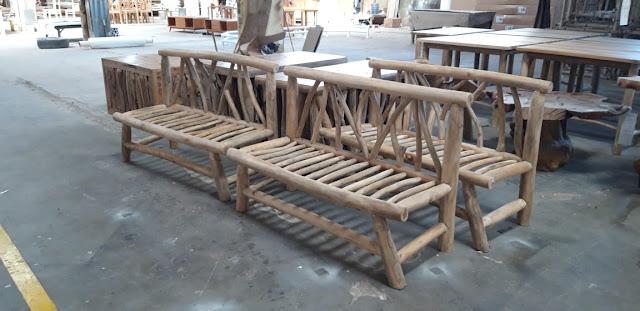 Sofa bench ranting jati