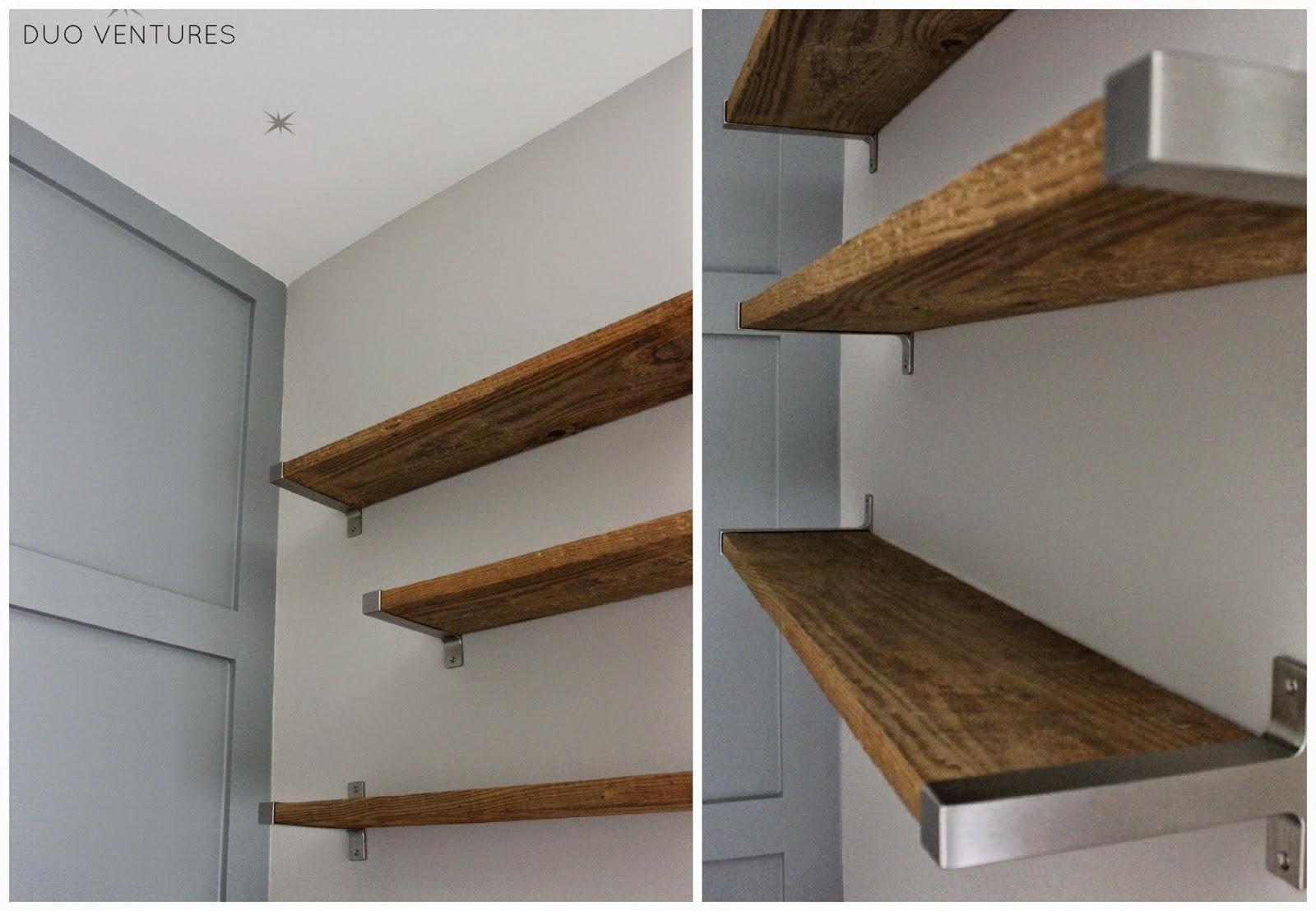 Duo Ventures The Nursery Diy Reclaimed Barnwood Shelves