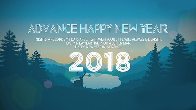 Advance Happy New Year 2018 Messages