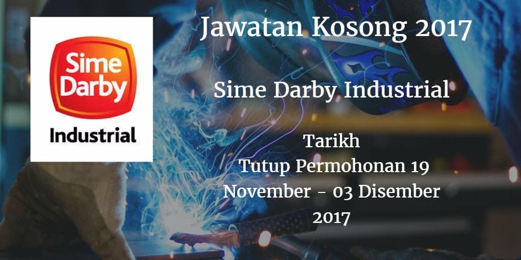 Jawatan Kosong Sime Darby Industrial 19 November - 03 Disember 2017