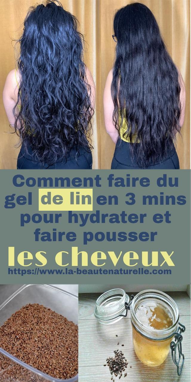 Comment faire du gel de lin en 3 mins pour hydrater et faire pousser les cheveux
