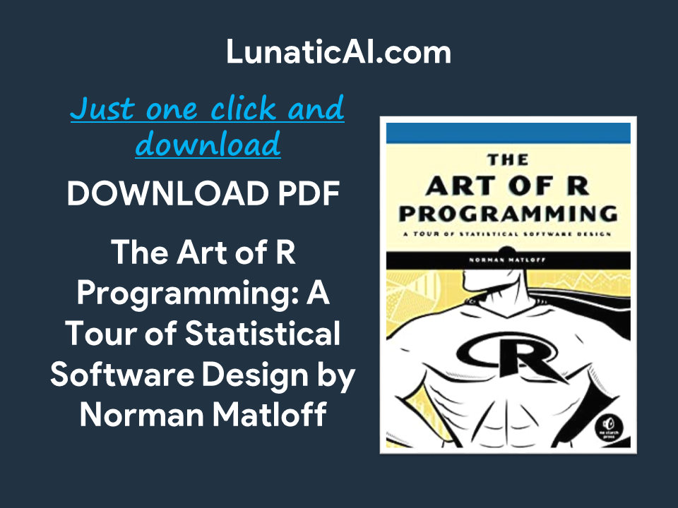 the art of r programming a tour of statistical software design free pdf