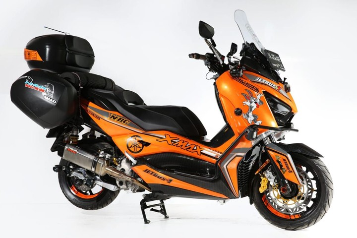 Modifikasi Yamaha NMAX Ala Touring Modern