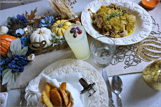Menú de la Cena de Acción de Gracias en Boston