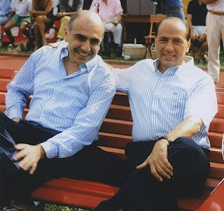 Galliani (left) and Silvio Berlusconi were business partners before they took charge at AC Milan