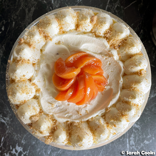 Roasted Peach and Custard Trifle