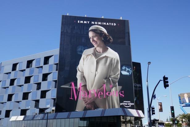 Emmy-nominated Marvelous Mrs Maisel season 2 billboard