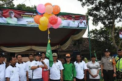 Sekda Lamtim Buka Turnamen Sepak Bola Ansor Cup ke 3 di Way Bungur