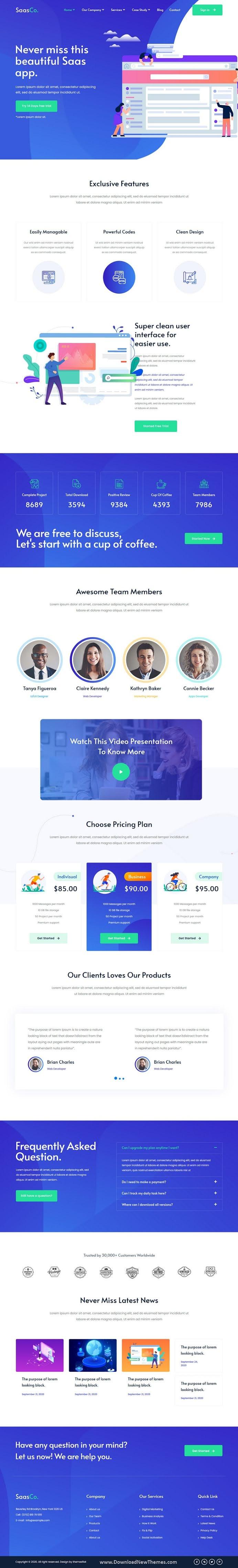 App Landing & Startup Elementor Template Kit