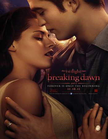 Poster Of The Twilight Saga: Breaking Dawn – Part 1 In Dual Audio Hindi English 300MB Compressed Small Size Pc Movie Free Download Only At worldfree4u.com