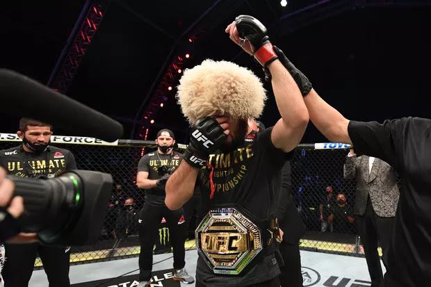 UFC 254 - Khabib Nurmagomedov defeats Justin Gaethje