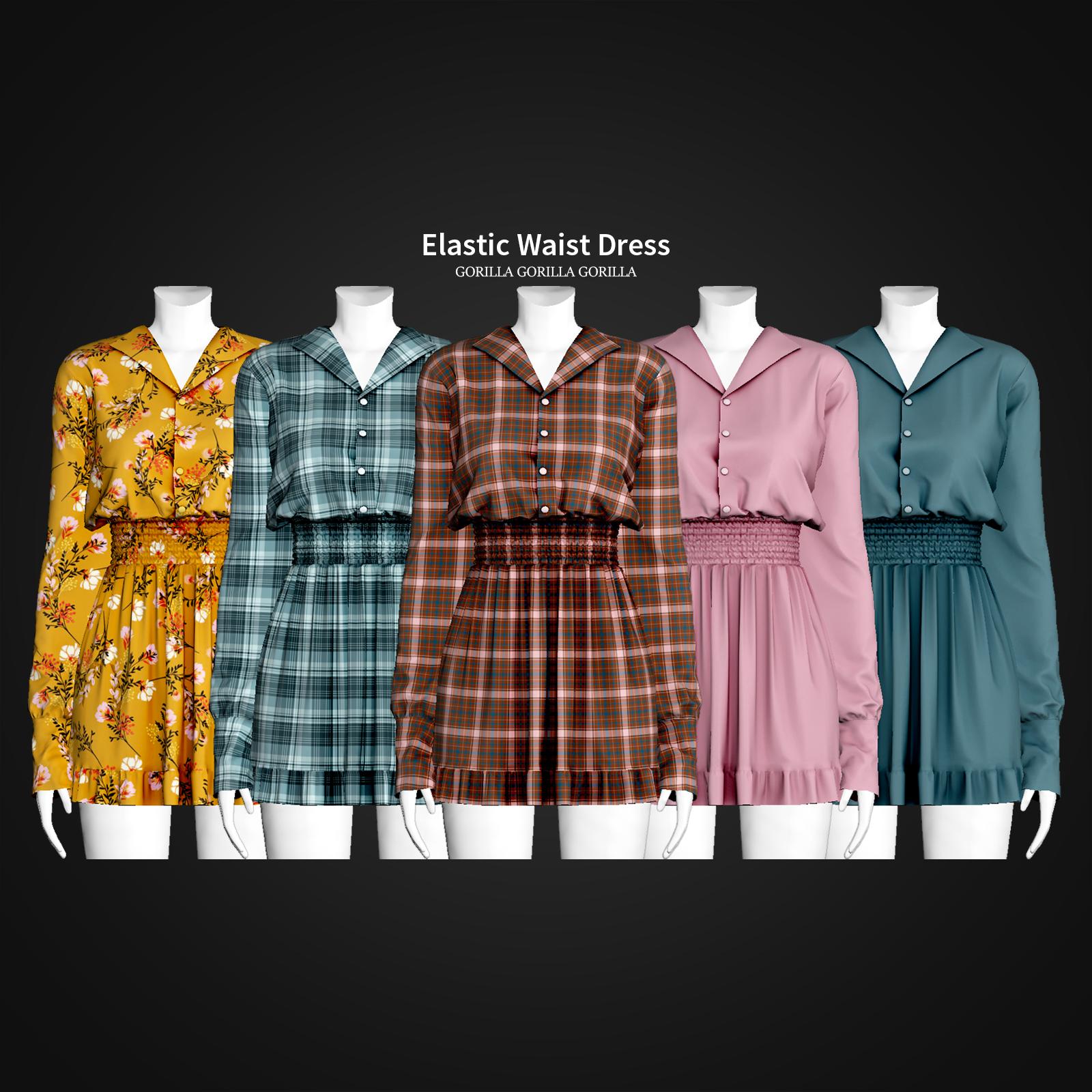 Elastic Waist Dress by Gorilla