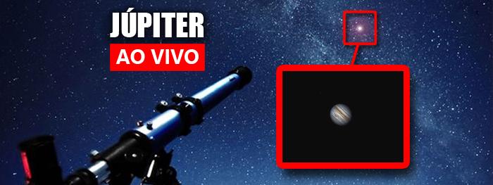 ao vivo - jupiter com telescópio