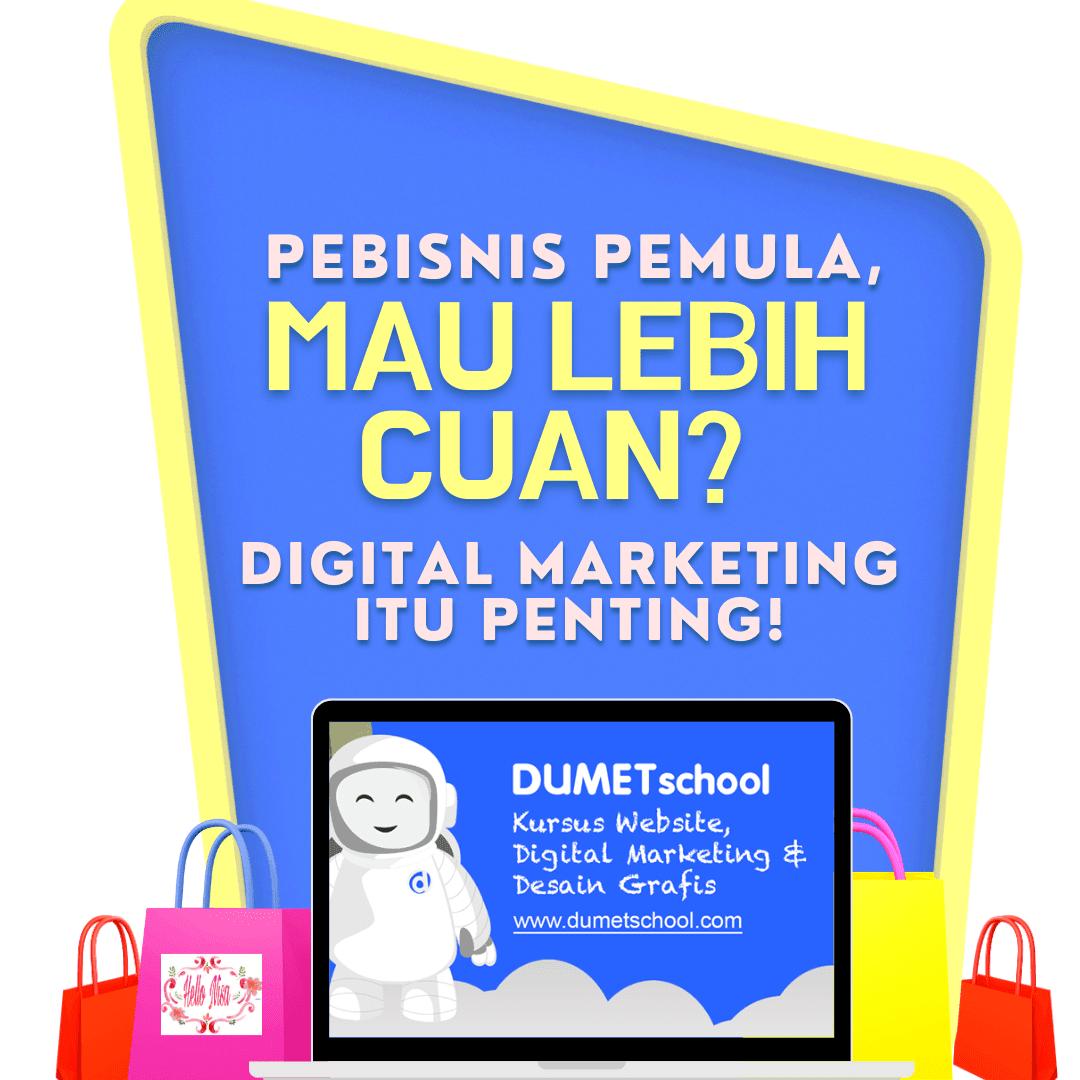 Dumet School tempat kursus website dan digital marketing